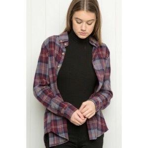 Brandy Melville Plaid Flannel Button Down